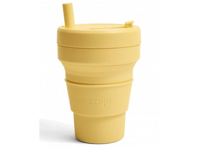 Skladací pohár Stojo - Biggie - Kolekcia Spring- Mimosa