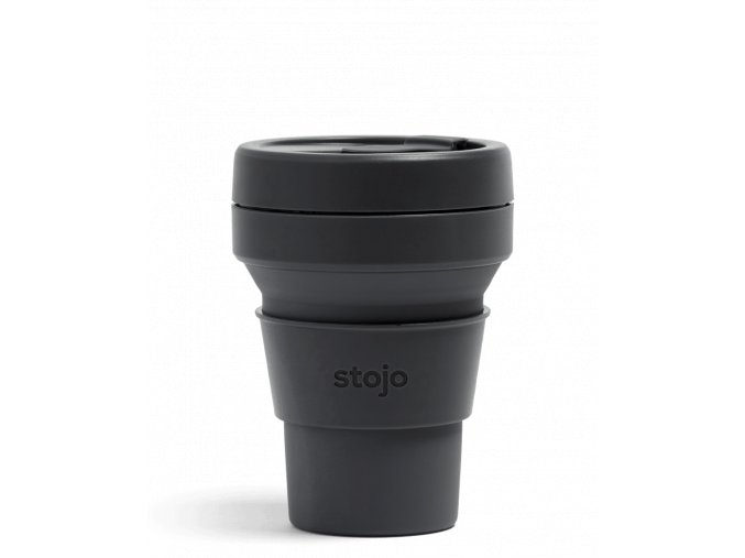 Skladací pohár Stojo - Kolekcia Brooklyn - Carbon