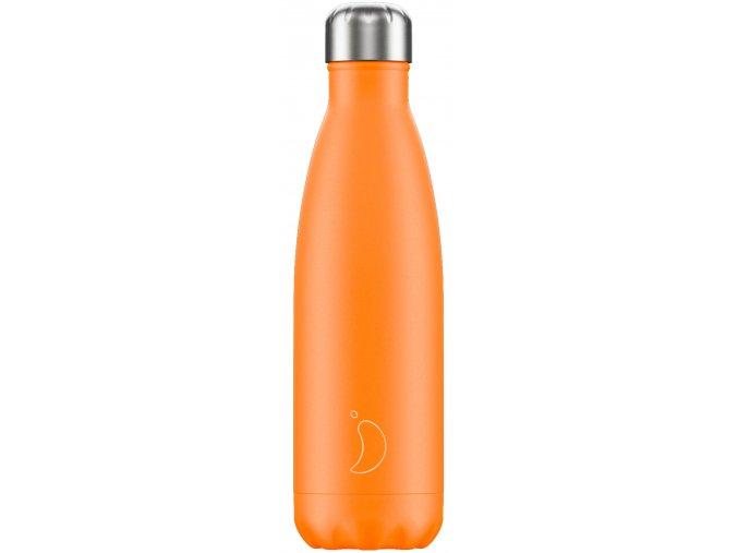 Nerezová fľaška Chilly's - Neon - Orange