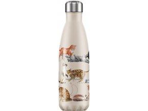 Nerezová fľaška Chilly's - Emma Bridgewater - Cats