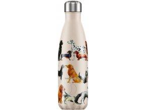 Nerezová fľaška Chilly's - Emma Bridgewater - Dogs