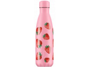 Nerezová fľaška Chilly's Icons Strawberry
