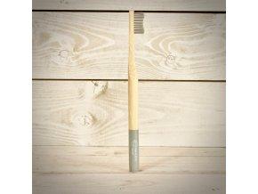 Biologicky rozložiteľný bambusová zubná kefka pre dospelých silver
