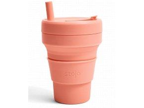 Skladací pohár Stojo - Biggie - Kolekcia Spring- Apricot