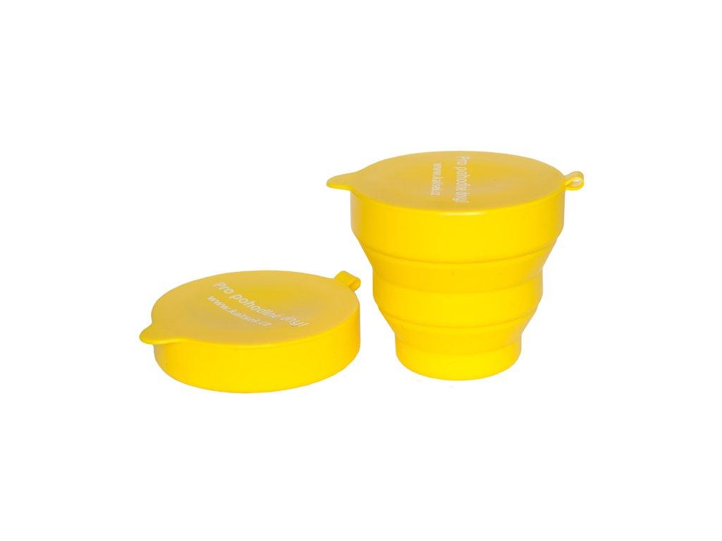 Żółty pojemniczek do dezynfekcji