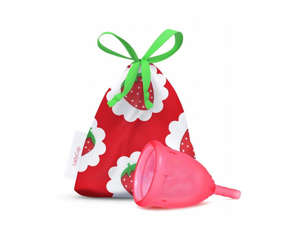 Kubeczek menstruacyjny LadyCup L Słodka truskawka