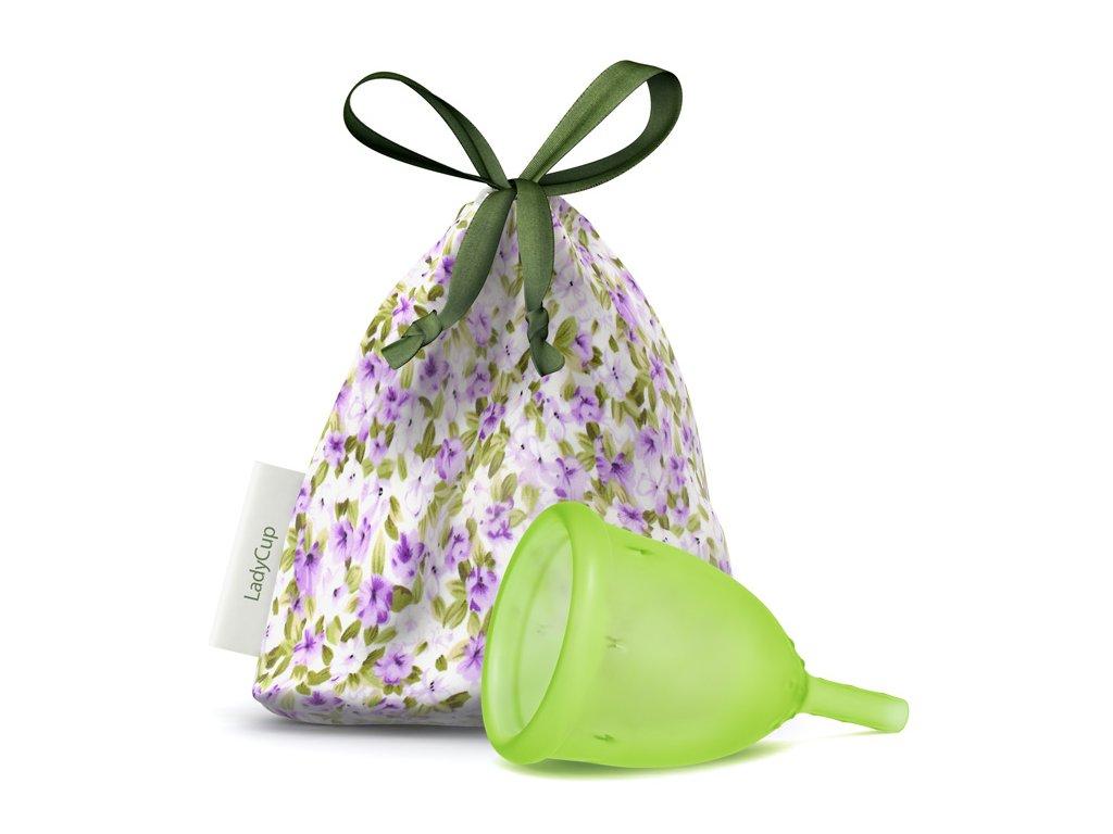 Kubeczek menstruacyjny LadyCup L Zielona łąka
