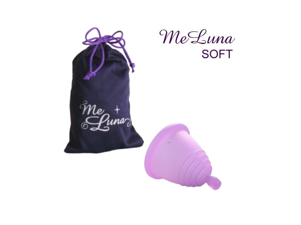 Kubeczek menstruacyjny Me Luna L Shorty różany z kulką