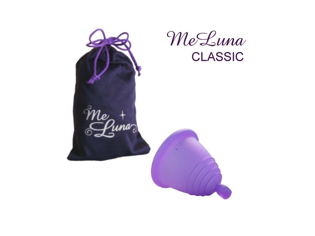 Kubeczek menstruacyjny Me Luna S Shorty fioletowy z kulką