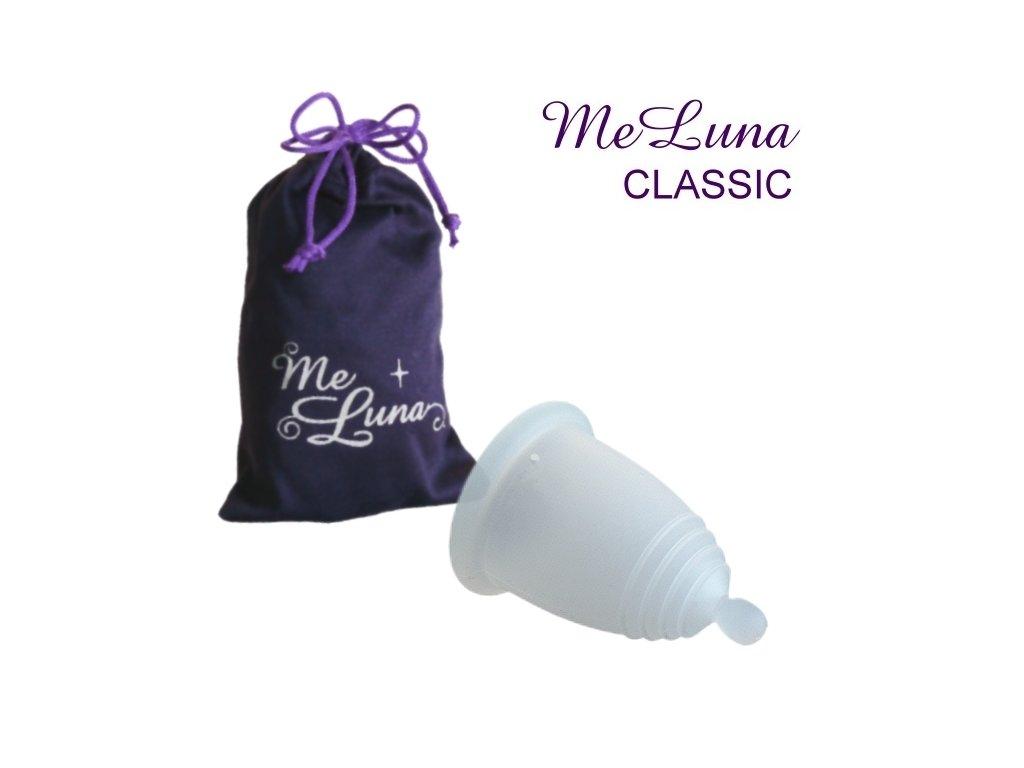 Kubeczek menstruacyjny Me Luna XL przezroczysty z kulką