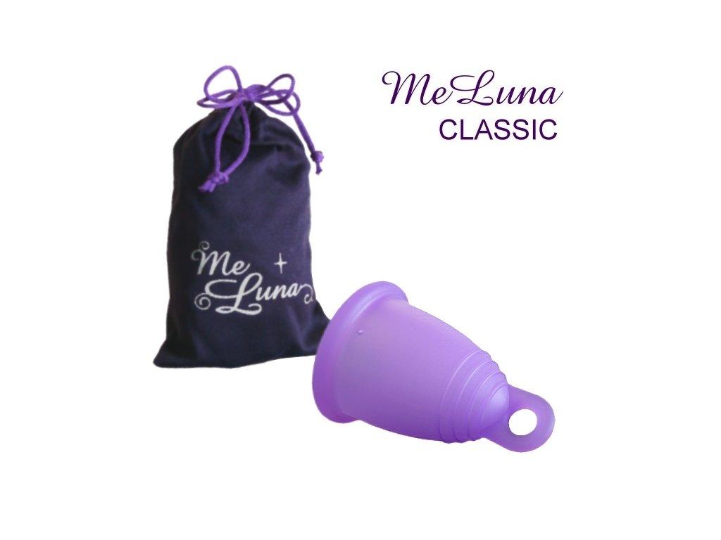 Kubeczek menstruacyjny Me Luna XL fioletowy z pętelką