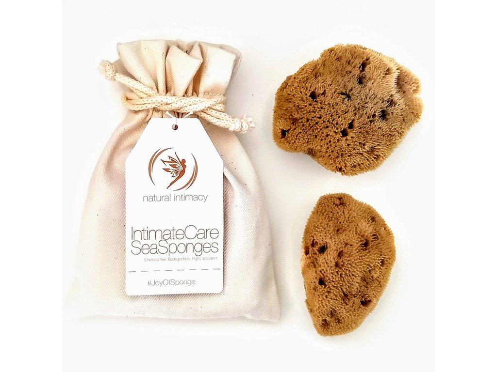 Natural Intimacy Tampony-gąbeczki z naturalnej gąbki 2xL mineralna w torbie