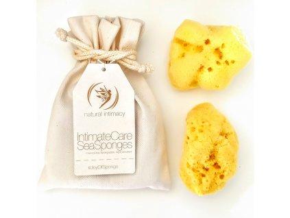 Natural Intimacy Tampony-gąbeczki z naturalnej gąbki 2xL w torbie
