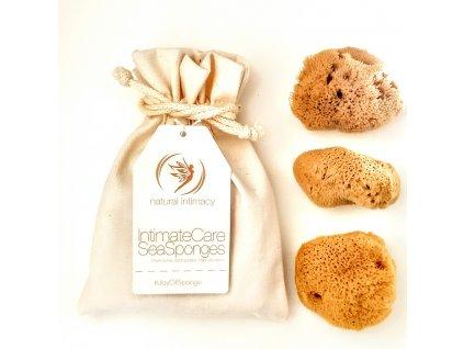 Natural Intimacy Tampony-gąbeczki z naturalnej gąbki 3xM mineralna w torbie