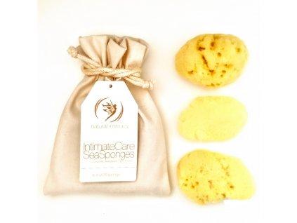Natural Intimacy Tampony-gąbeczki z naturalnej gąbki 3xM w torbie
