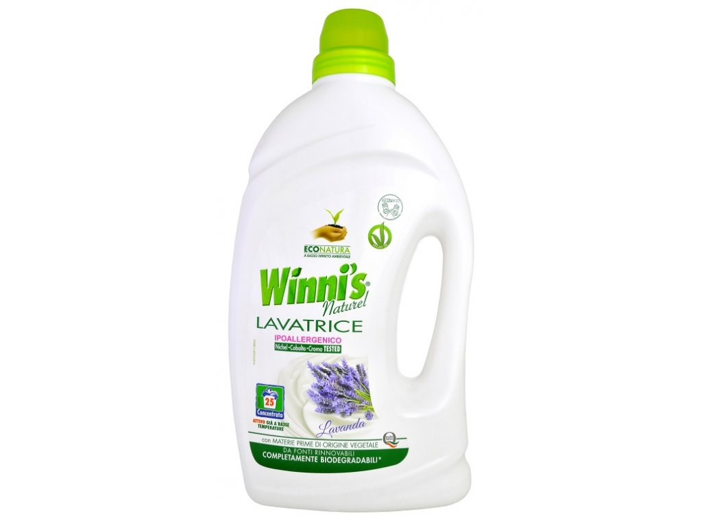 Přírodní prací gel Winies Natura na všechny druhy prádla s vůní levandule 1500 ml.