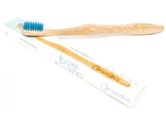 Bambusový zubní kartáček Nordics Blue 3