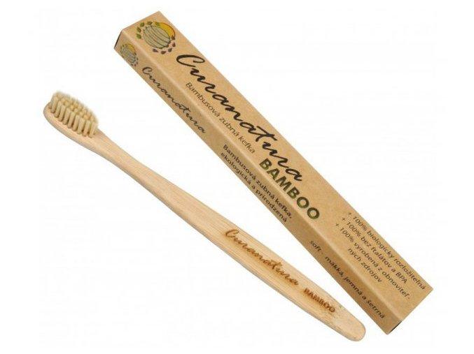 Přírodní BAMBUSOVÝ zubní kartáček Curanatura Bamboo
