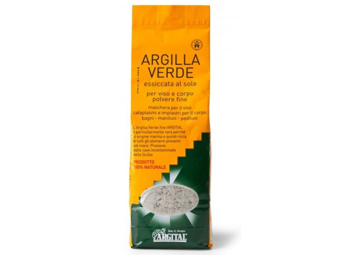 Zelený sicilský jíl Argital vysušený sluncem 1 kg.