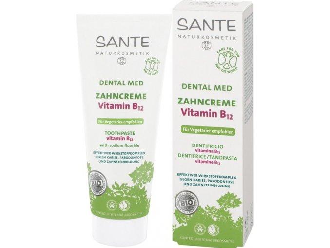Zubní krém Santé s vitamínem B12 a fluoridy