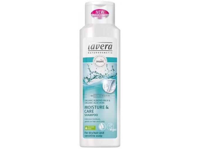 Šampon na suché a citlivé vlasy Lavera Moisture a Care 250 ml.