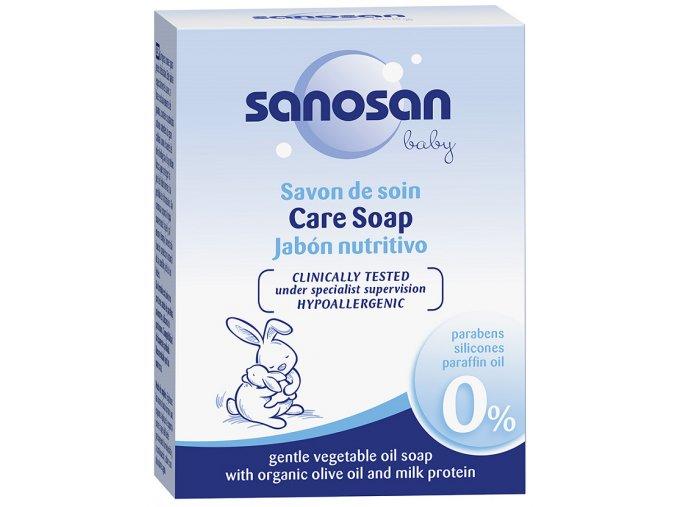 Dětské hypoalergenní přírodní tuhé mýdlo Sanosan Baby 100 g.