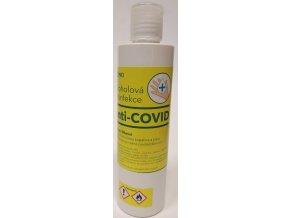 Alkoholová tekutá desinfekce na ruce 250 ml.