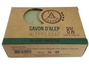 Přírodní tuhé mýdlo ALEPEO se zeleným čajem