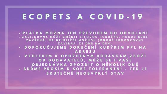 Ecopets a COVID-19 Coronavirus