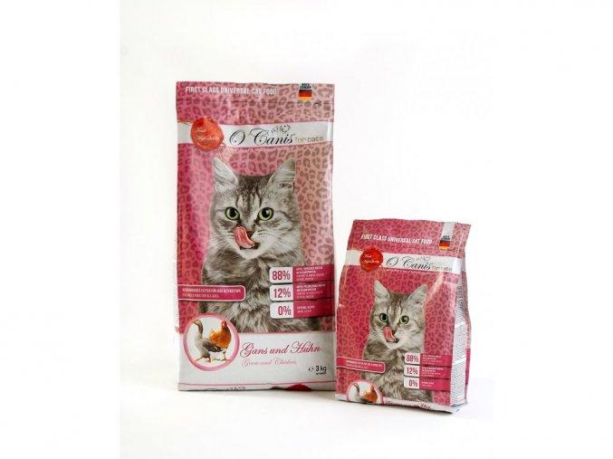 Kočka Kuře a husa granule oćanis