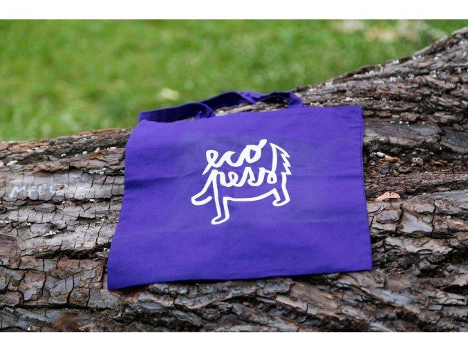 Eko taška, zero waste taška fialová