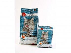 Kočka Kuře a losos granule oćanis