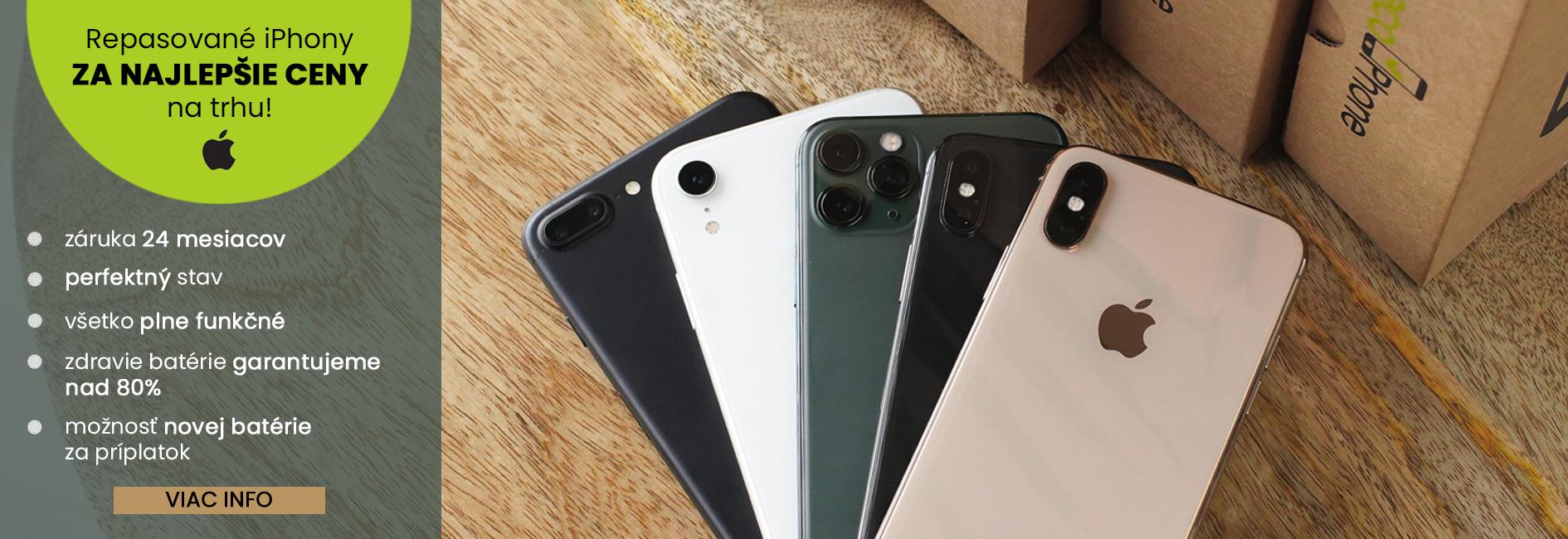 Repasované iPhony za najlepšie ceny na trhu!