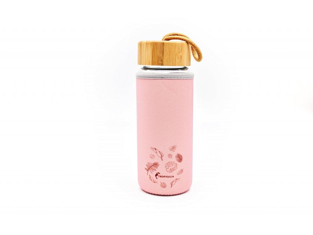 Obal na skleněnou láhev - PINK