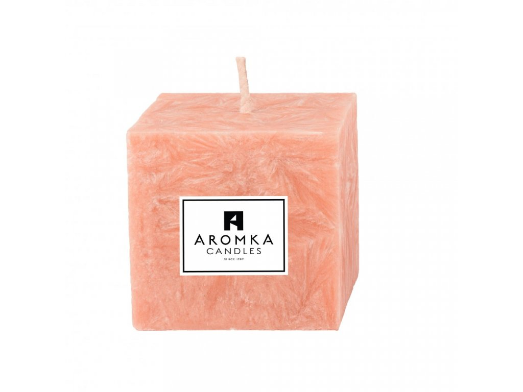 Přírodní vonná svíčka palmová - AROMKA - Hranolek úzký, průměr 4,5 cm, výška 5 cm