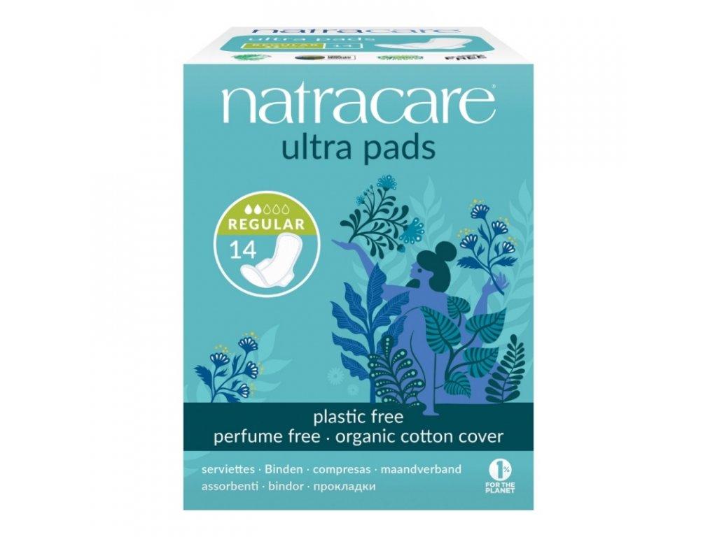 NATRACARE Menstruační vložky Ultra REGULAR s křidélky 14 ks