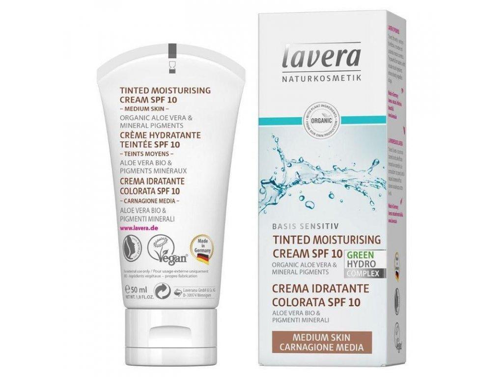 lavera Basis Tónovací hydratační krém - střední 50 ml