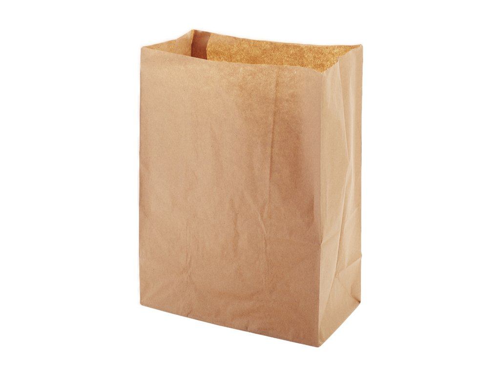 Papírový sáček EKO 22x12x29 cm hnědý bal/50 ks