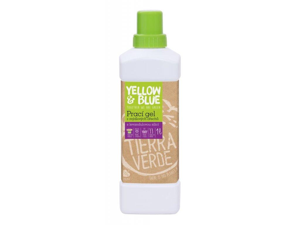 Tierra Verde – Prací gel levandule (Yellow & Blue), 1 l