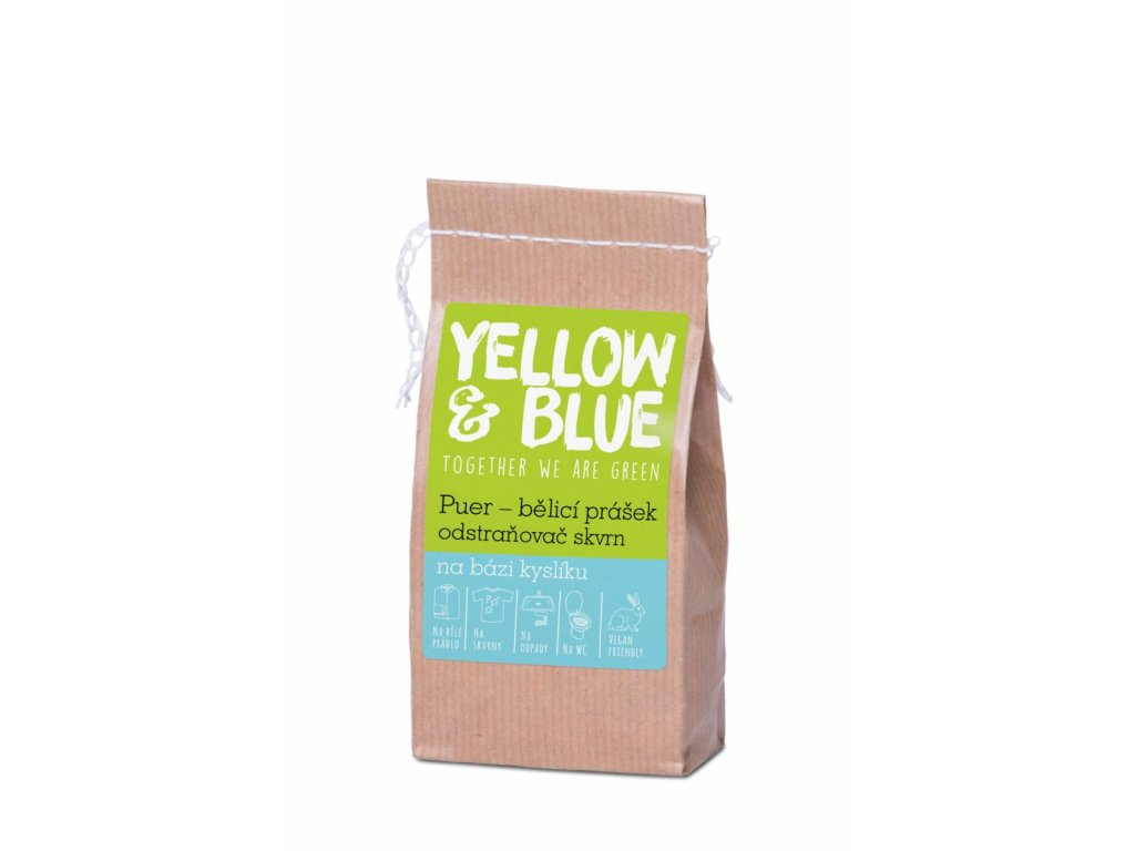 Tierra Verde – Puer – bělicí prášek (Yellow & Blue), 250 g