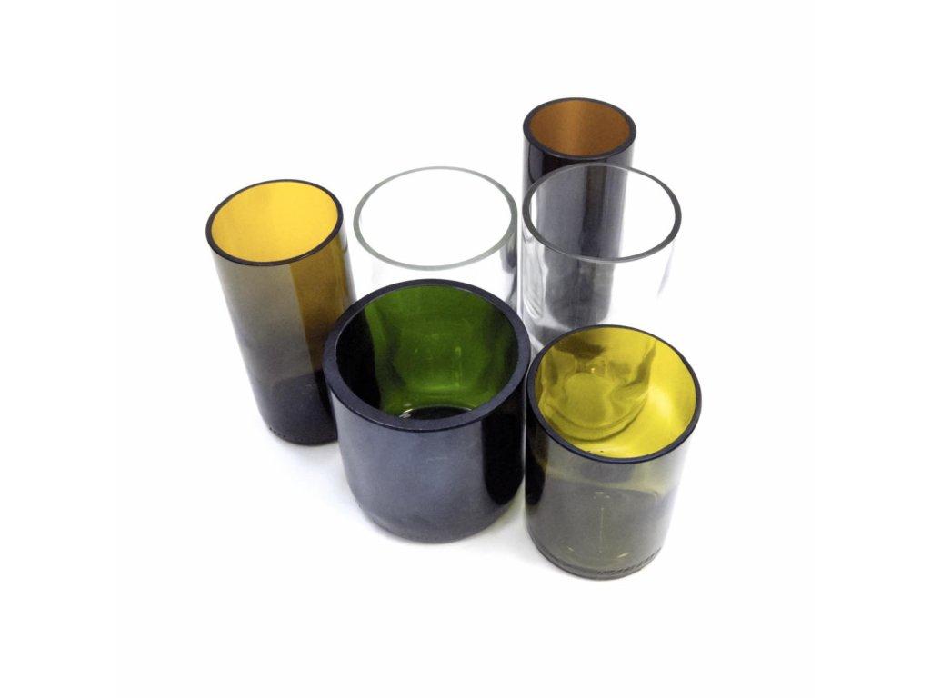 Tierra Verde – Sada sklenic Žízeň po životě – mix (6 ks různé barvy a tvary) (Born Again), 6 ks