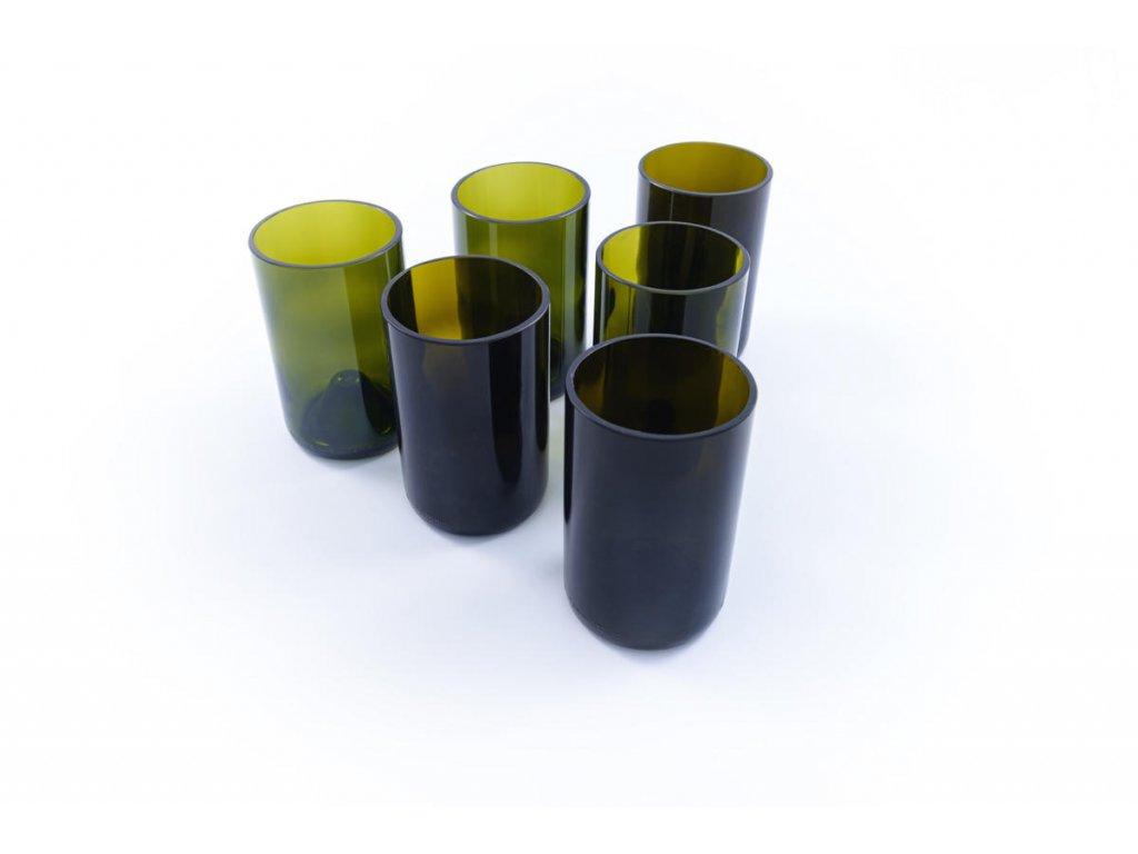 Tierra Verde – Sada sklenic Žízeň po životě – zelená (6 ks vysoká) (Born Again), 6 ks
