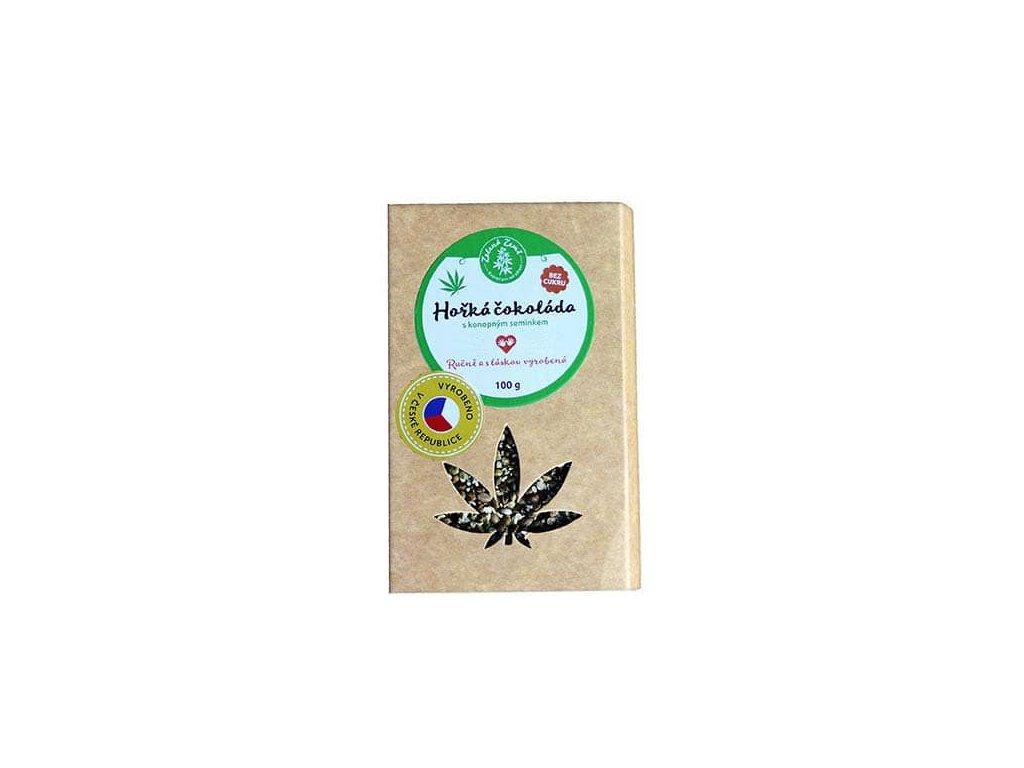 Hořká čokoláda s konopným semínkem 100g BEZ CUKRU!