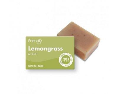 FRIENDLY SOAP mýdlo citronová tráva a konopí 95g