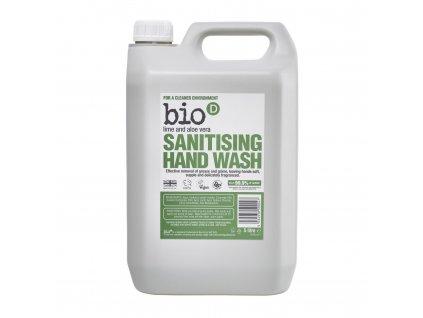 Bio-D antibakteriální mýdlo Limetka a aloe 5L