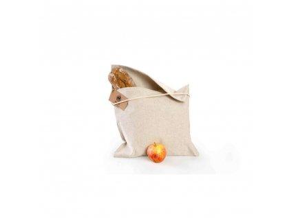 latkovy sacek na pecivo ze lnu s bocnim otvorem velky 35x45