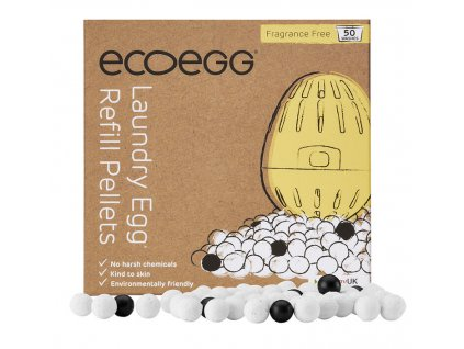 Ecoegg náhradní náplň pro prací vajíčko 50 praní bez vůně