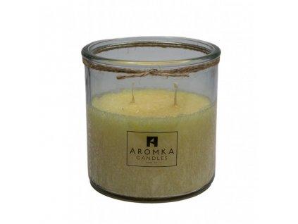 5162 prirodni vonna svicka palmova aromka recyklovane sklo 500 ml mesicek lekarsky