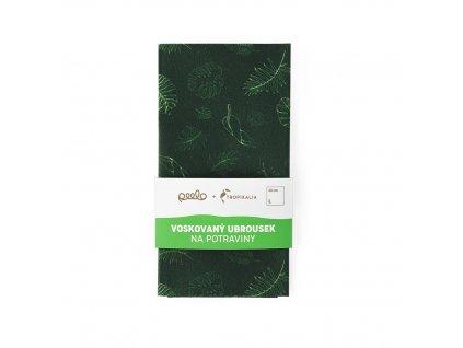 Voskovaný ubrousek kompostovatelný - zelený L