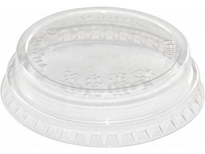 Plastové víčko EKO PLA na kelímek O76mm SLIM ploché 50 ks